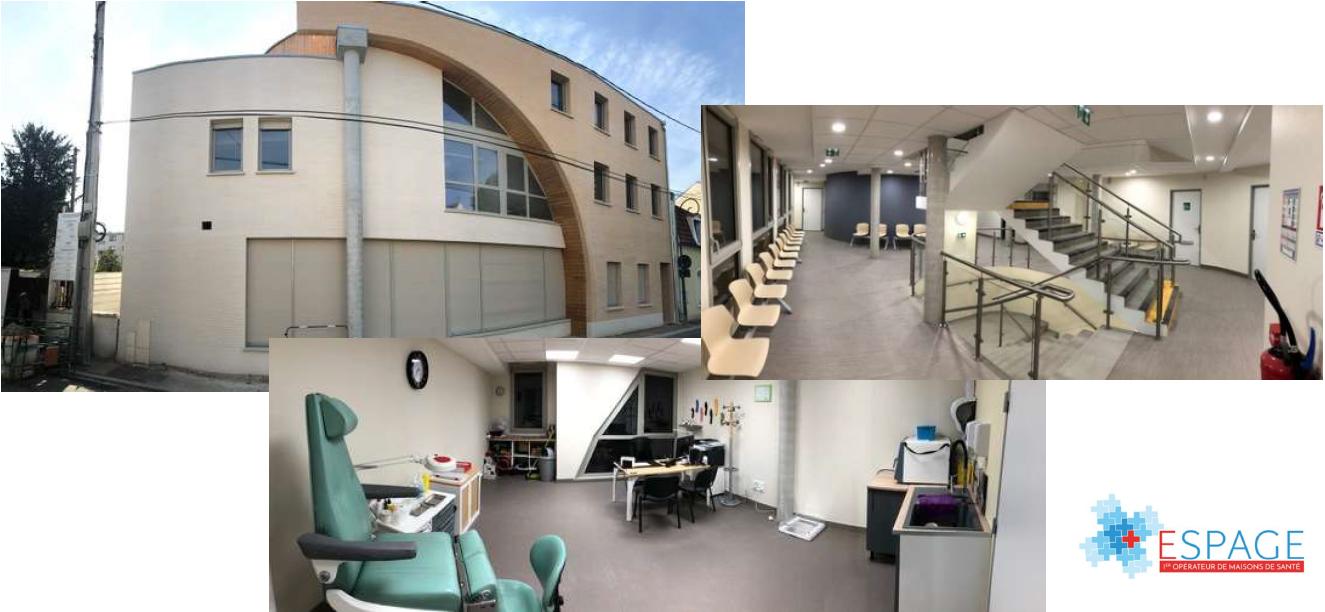 Présentation de la Maison de Santé « prêt-à-consulter » ouverte récemment aux Mureaux (78) par Espage.